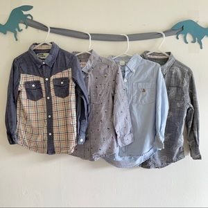 Bundle of 4 boy shirts